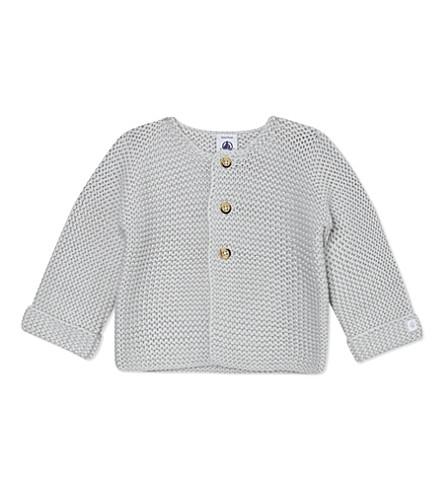 PETIT BATEAU Knitted cardigan newborn-12 months (Beige