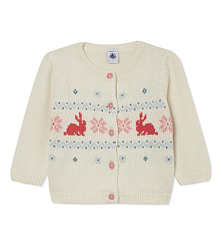PETIT BATEAU Wool-cotton blend cardigan 3-36 months (Beige