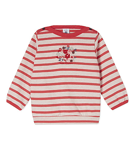 PETIT BATEAU Striped jumper 3-36 months (Pink
