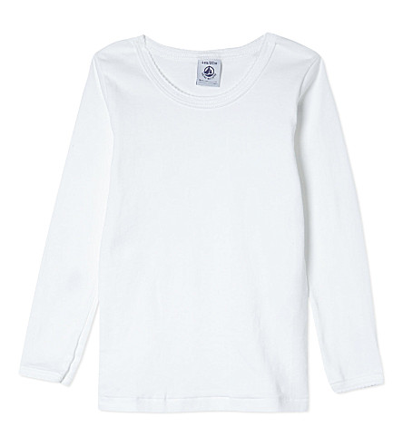 PETIT BATEAU Long sleeve t-shirt 2-12 years (Ecumewhite