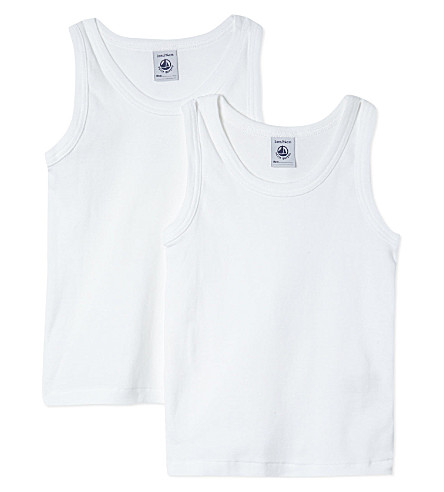 PETIT BATEAU Two cotton vests 2-12 years