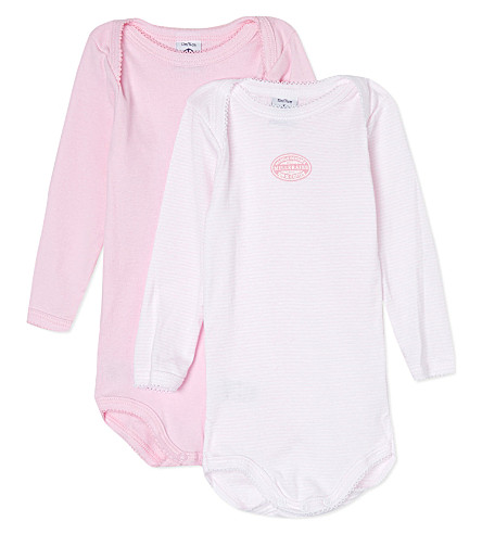 PETIT BATEAU Pack of two long-sleeved bodysuits 3-36 months