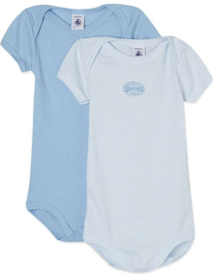 PETIT BATEAU Pack of two long-sleeve bodysuits 3-36 months