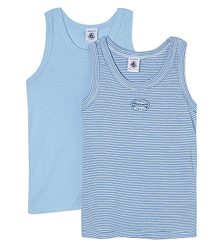 PETIT BATEAU Pack of two cotton vests 2-12 years