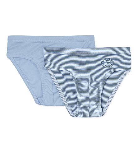 PETIT BATEAU 组的两个棉裤子 2-12 年