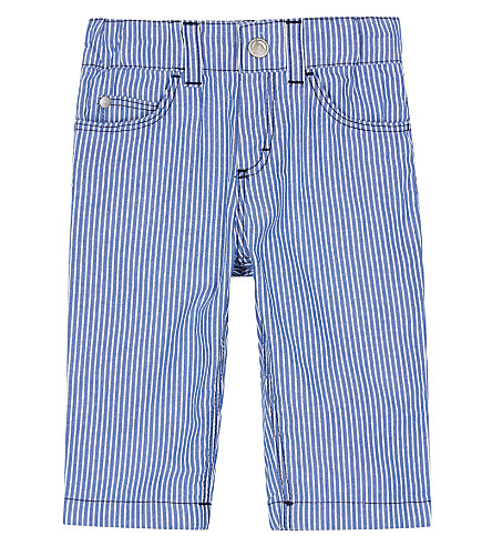 PETIT BATEAU Striped cotton trousers 3-36 months (Ecume+white