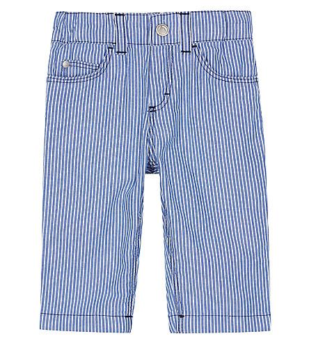 PETIT BATEAU Striped cotton pants 3-36 months (Ecume+white