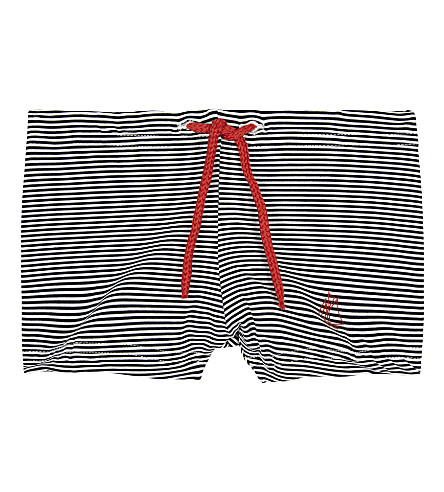 PETIT BATEAU Striped swim shorts 6-24 months (Lait+white