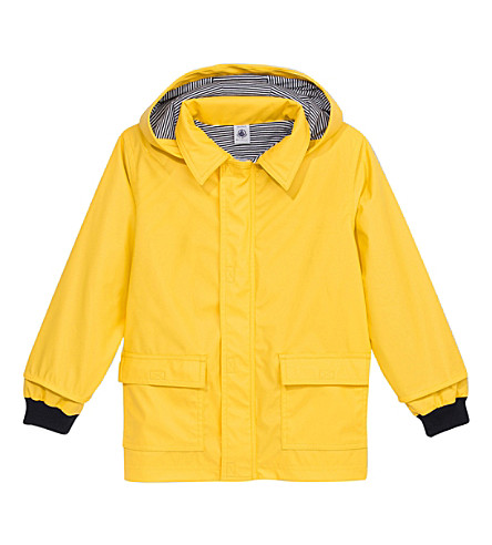 PETIT BATEAU Iconic waxed raincoat 6-24 months (Jaune+yellow