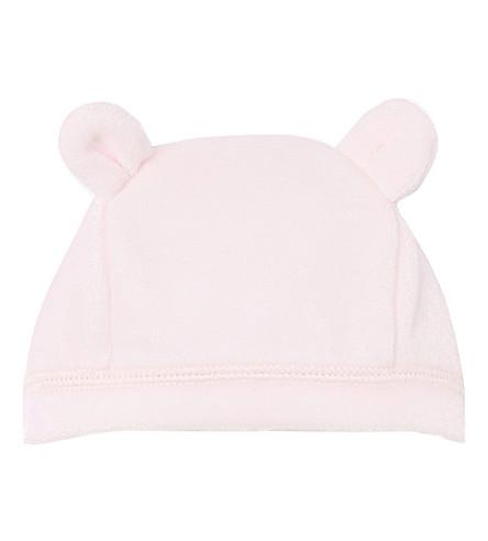 PETIT BATEAU Velour cotton beanie hat 1-6 months (Vienne+pink