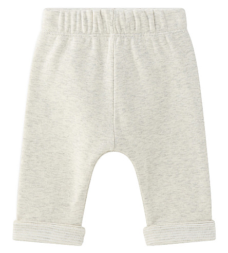 PETIT BATEAU Reversible cotton trousers 1-12 months (Montelimar++grey
