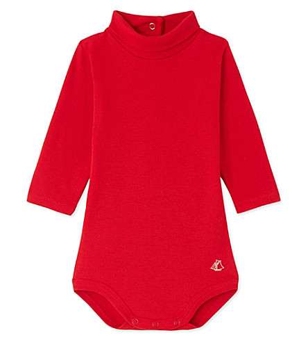 PETIT BATEAU Baby roll neck bodysuit 3-36 months (Froufrou+red