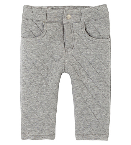 PETIT BATEAU Baby boy's quilted double knit pants (Subway+chine+grey