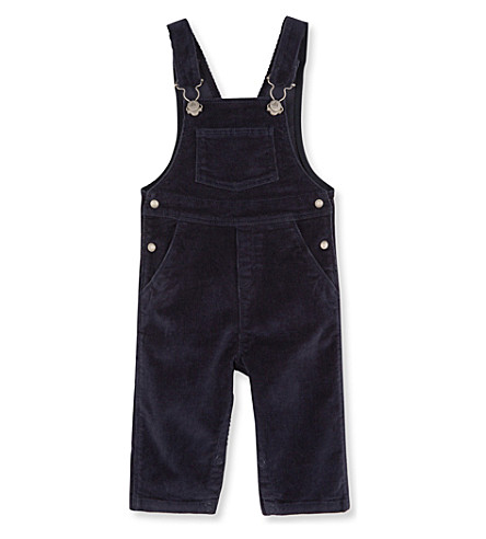 PETIT BATEAU Baby boy's stretch corduroy dungarees (Smoking+blue