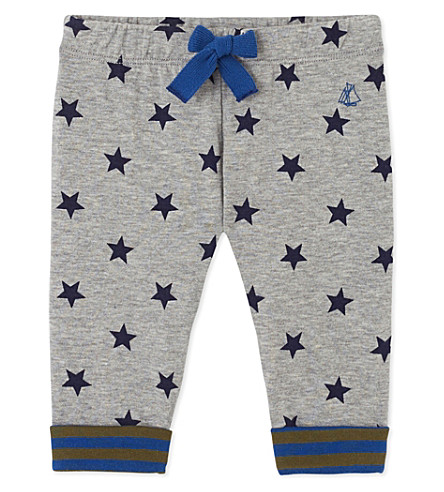 PETIT BATEAU Baby boy's printed double-knit cotton pants (Subway++smoking+blue