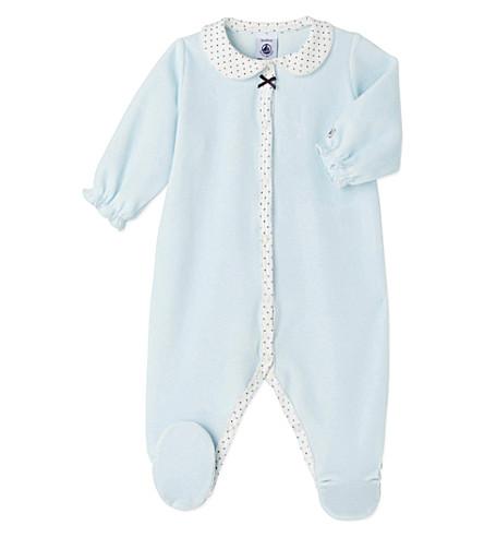 PETIT BATEAU Velour sleepsuit 1-24 months (Bocal+blue