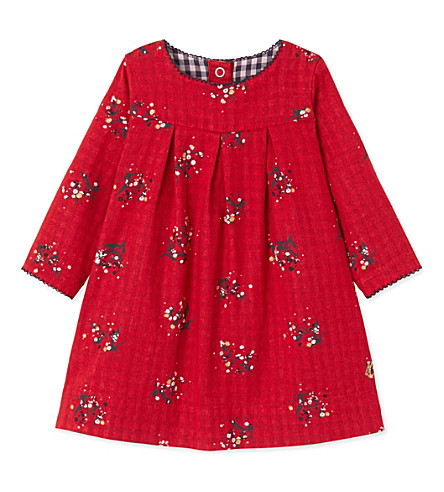 PETIT BATEAU Gingham-print knitted dress 3-36 months (Froufrou+red++white