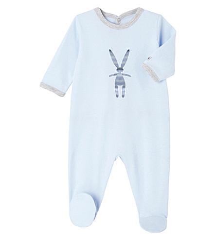 PETIT BATEAU Rabbit cotton sleepsuit 1-36 months (Fraicheur+blue