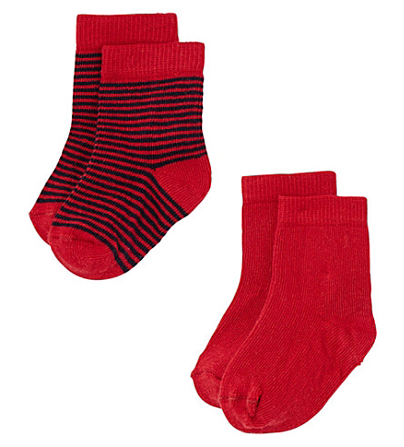PETIT BATEAU Pack of two cotton socks (Mixed+colours