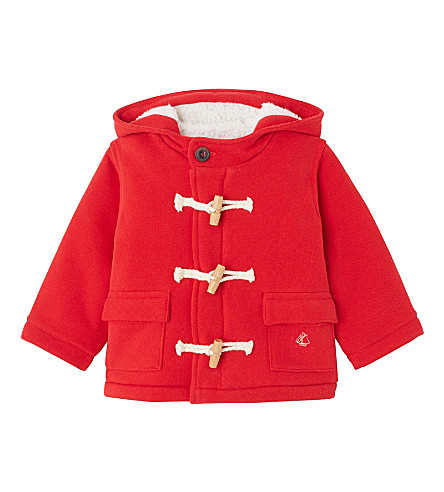 PETIT BATEAU Baby girl's fleece duffle coat 3-36 months (Froufrou+red