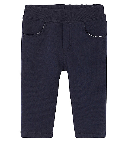 PETIT BATEAU Baby boy's fleece pants 3-36 months (Smoking+blue