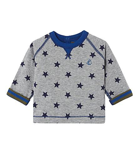 PETIT BATEAU Baby boy's reversible top 3-36 months (Subway++smoking+blue