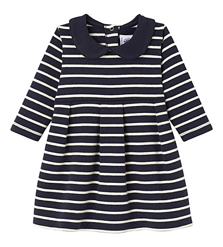 PETIT BATEAU Striped cotton-jersey dress 3-36 months (Smoking+blue