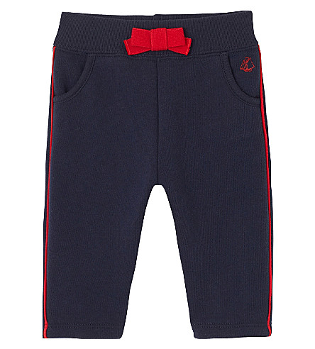 PETIT BATEAU Baby girl's fleece pants 3-36 months (Smoking+blue