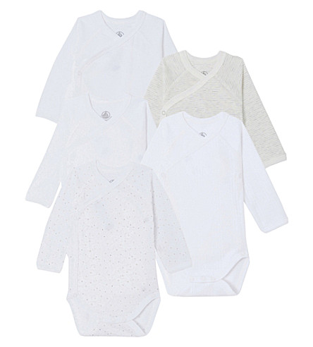 PETIT BATEAU 5 piece cotton baby set (Mixed+colours
