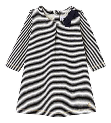 PETIT BATEAU Striped cotton dress 3-36 months (Coquille+smoke+blue