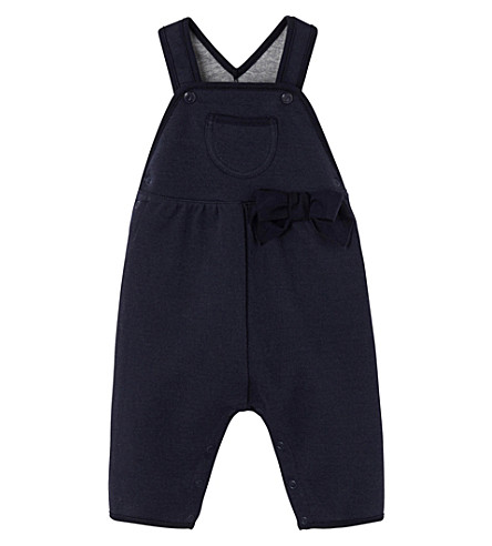 PETIT BATEAU Cotton-fleece overalls (Smoking+blue