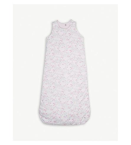 PETIT BATEAU Reversible cotton sleeping bag 0-36 months (White+/+pink