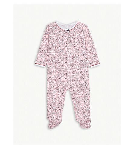 PETIT BATEAU Floral print cotton sleepsuit 3-24 months (Multico+white