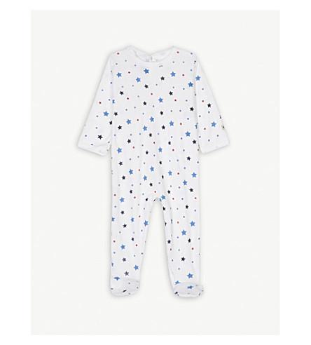 PETIT BATEAU Stars print cotton sleepsuit 3-36 months (Multico+white