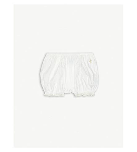 PETIT BATEAU Poplin cotton bloomers 3-24 months (Marshmallow+white