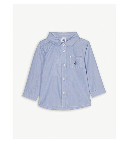 PETIT BATEAU Stripe cotton shirt 3-24 months (Blue+/+blanc+white
