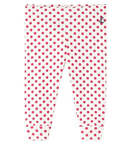 PETIT BATEAU 婴儿女孩的印花棉绑腿 (浮华 + 粉红色