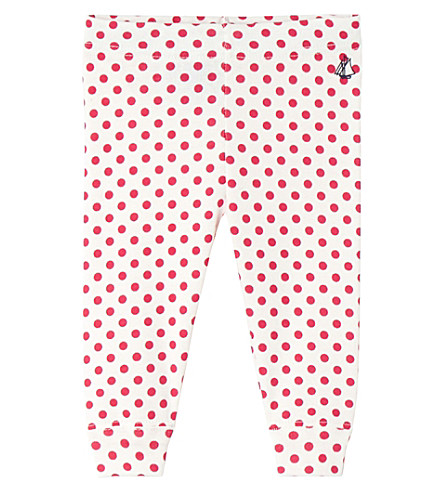 PETIT BATEAU Baby girl's printed cotton leggings (Flashy+pink