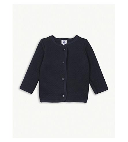 PETIT BATEAU Quilted cotton cardigan 3-36 months (Smoking+blue