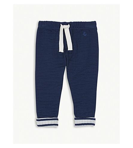 PETIT BATEAU Sailor striped cotton jogging bottoms 3-36 months (Medieval+blue