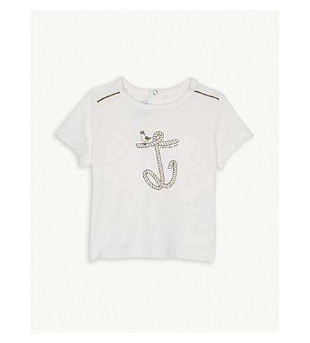 PETIT BATEAU Rope anchor cotton T-shirt 3-36 months (Marshmallow+white