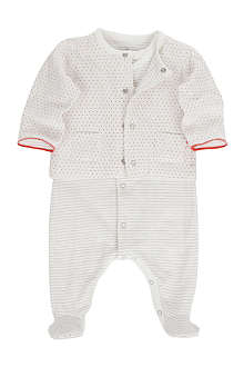 PETIT BATEAU Two-piece baby-grow and jacket newborn-12 months
