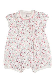 PETIT BATEAU Floral all-in-one 0-12 months