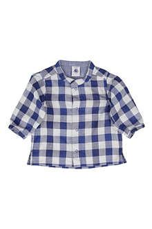 PETIT BATEAU Checked shirt 3 months-3 years