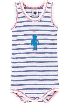 PETIT BATEAU Striped robot sleeveless bodysuit 3-36 months
