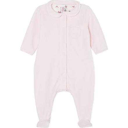 PETIT BATEAU Velour sleepsuit small newborn-24 months (Pink