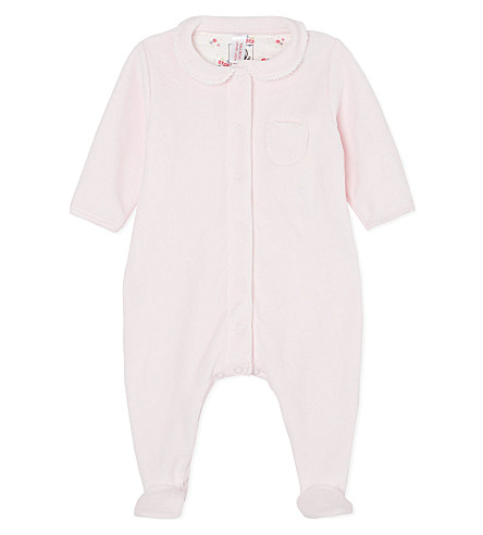 PETIT BATEAU Velour sleepsuit 0-24 months (Germain/multicolor