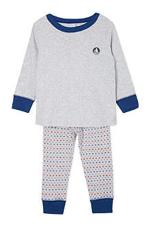 PETIT BATEAU Two-fabric pyjamas 2-12 years