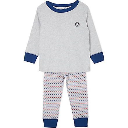 PETIT BATEAU Two-fabric pyjamas 2-12 years (Poussiere/multicolor