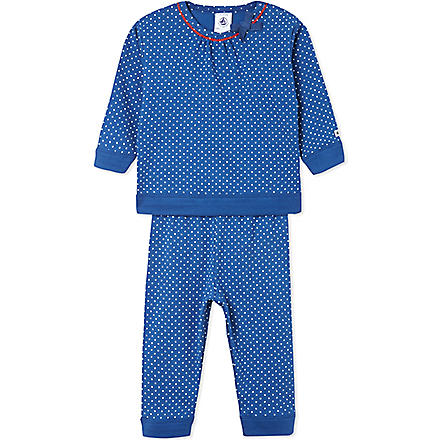 PETIT BATEAU Polkadot pyjamas 6-24 months (Blue/ off white
